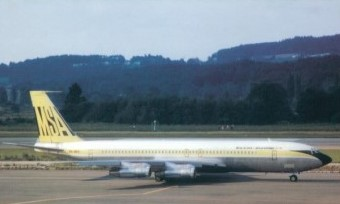 MSA MALAYSIA SINGAPORE AIRLINES BOEING 707 9V-BFC